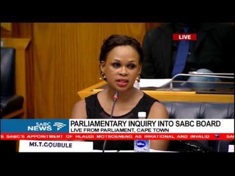 Parliament SABC Board Inquiry: Thandeka Gqubule