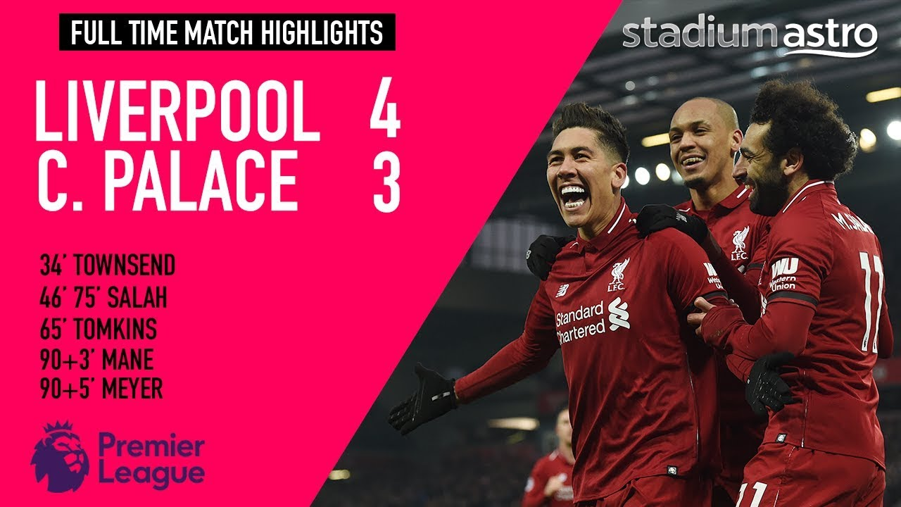 Liverpool 4 - 3 Crystal Palace | EPL Highlights | Astro SuperSport
