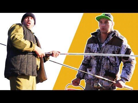 Батя с сыном на рыбалке