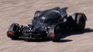 Batman vs. Superman - EPIC TEST Drive - Remote Control Batmobile RC Airhogs