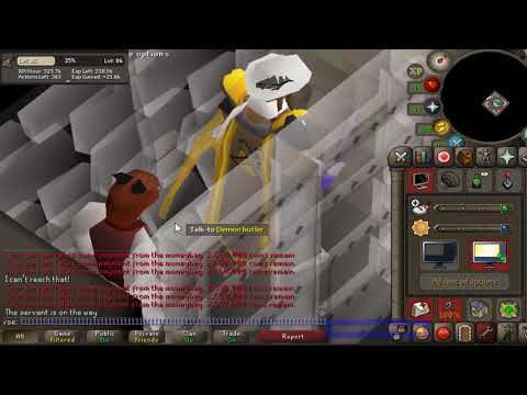 Oak dungeon doors - 500k+ xp/h con method (trapping butler)