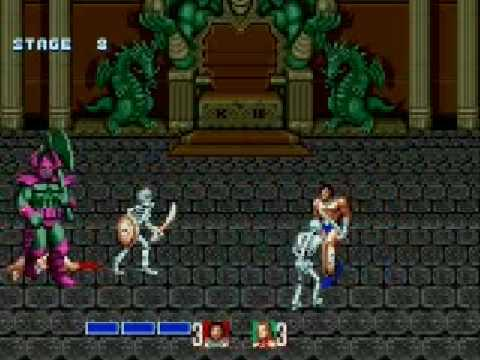 Golden Axe  Playthrough 2 Players (Genesis) Co op Full Longplay