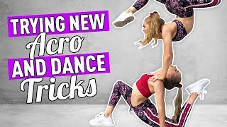 Trying New Acro, Gymnastics, and Dance Tricks | The Rybka Twins Video