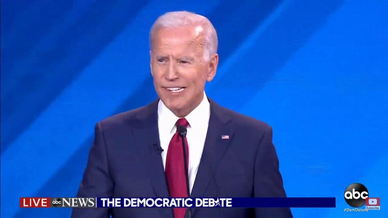 Joe Biden Nearly Spits His Teeth Out At Democratic Presidential Debate Lol Youtube