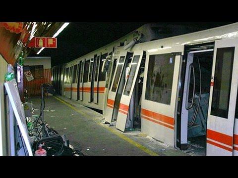 METRO B ROMA incidente 5 giugno 2015 | 21 feriti non gravi | subway crash