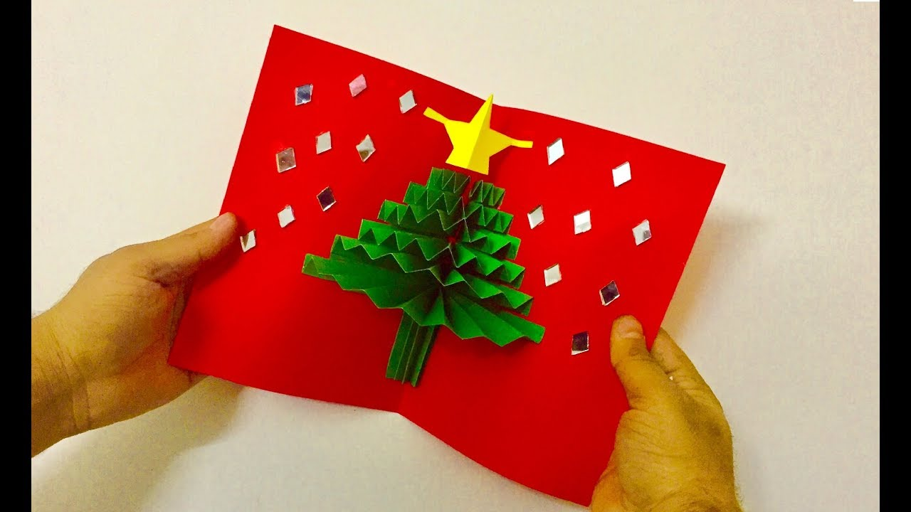 Diy 3d christmas pop up card tutorial handmade xmas greetings diy 3d christmas pop up card tutorial handmade xmas greetings card ideas paper christmas tree kristyandbryce Images