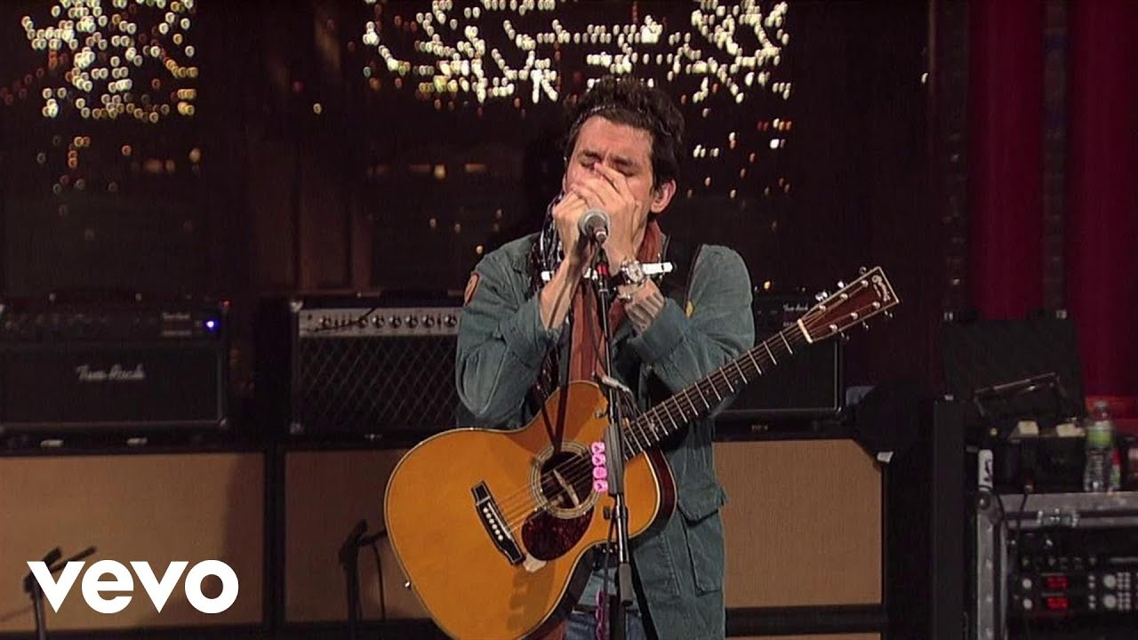 john mayer born and raised live on letterman youtube