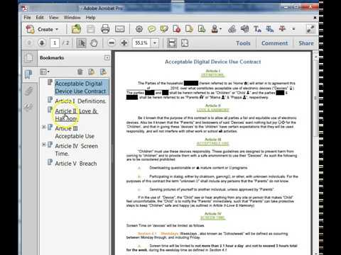 Save Word Document as PDF with Bookmarks - YouTube