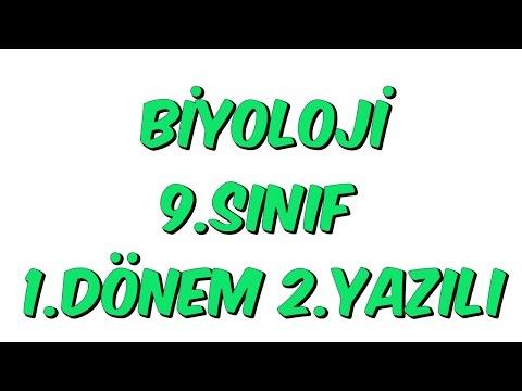 9.SINIF 1.DÖNEM 2.YAZILI | BİYOLOJİ
