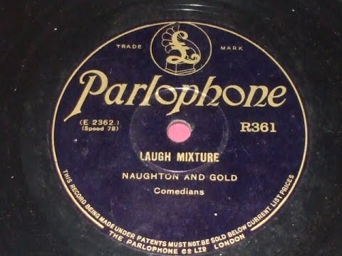 """Laugh Mixture"" Comic record by Naughton & Gold Parlophone R361"
