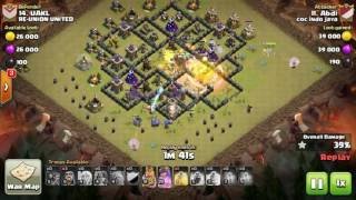 Tips Clash Of Clans TH 9: meratakan (3 star) base war type 74 menggunakan trops GoHealVaWi