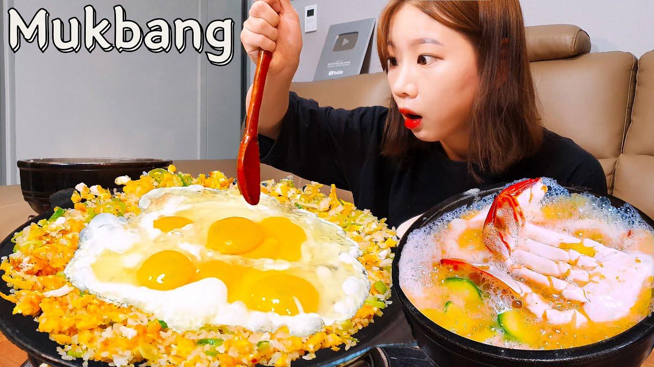 Sub)Real Mukbang -Yumurta Bomba Kızarmış Pilav🍳 & Yengeç Soya Ezmesi Güveç ve Bira🍺ASMR Kore Yemeği