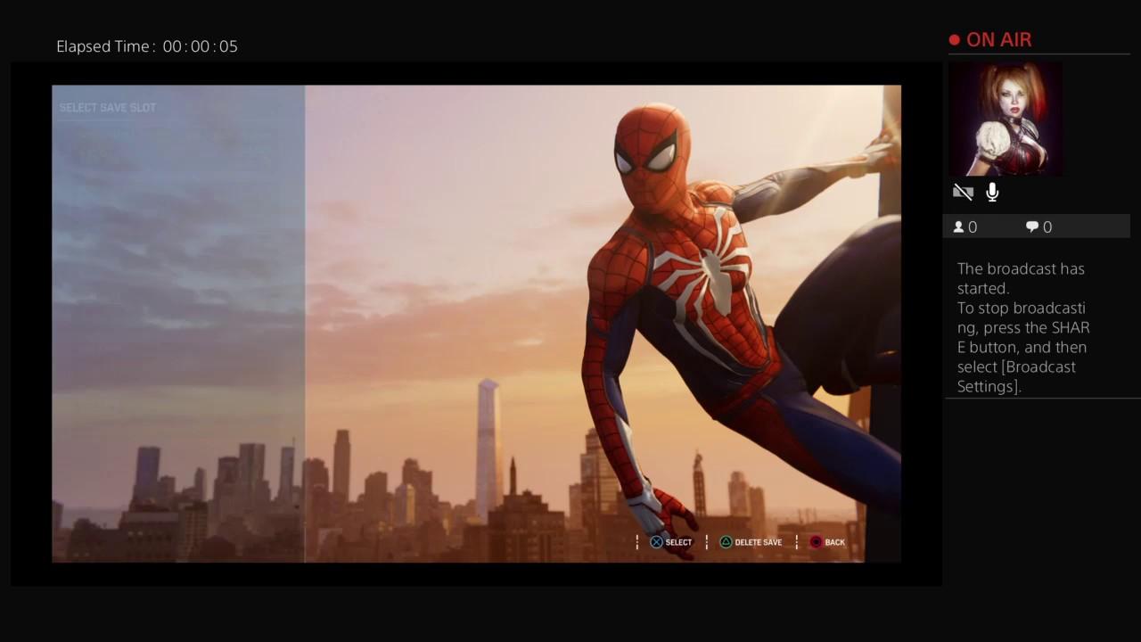 SDV3121's Live PS4 Broadcast Marvel Spider-Man pt 2