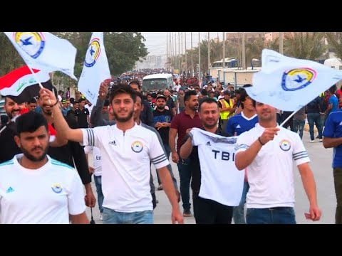 Iraq's football fans enjoy first international match since ban