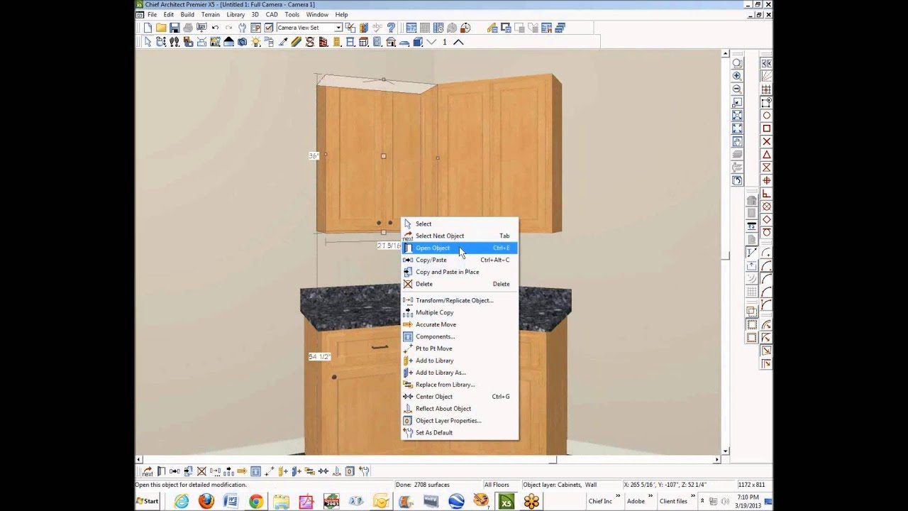 Cabinets meeting on a 45 degree angle youtube for Kitchen cabinets 45 degree angle