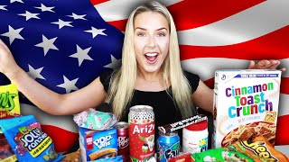 AUSTRALIAN Tries AMERICAN Snacks!