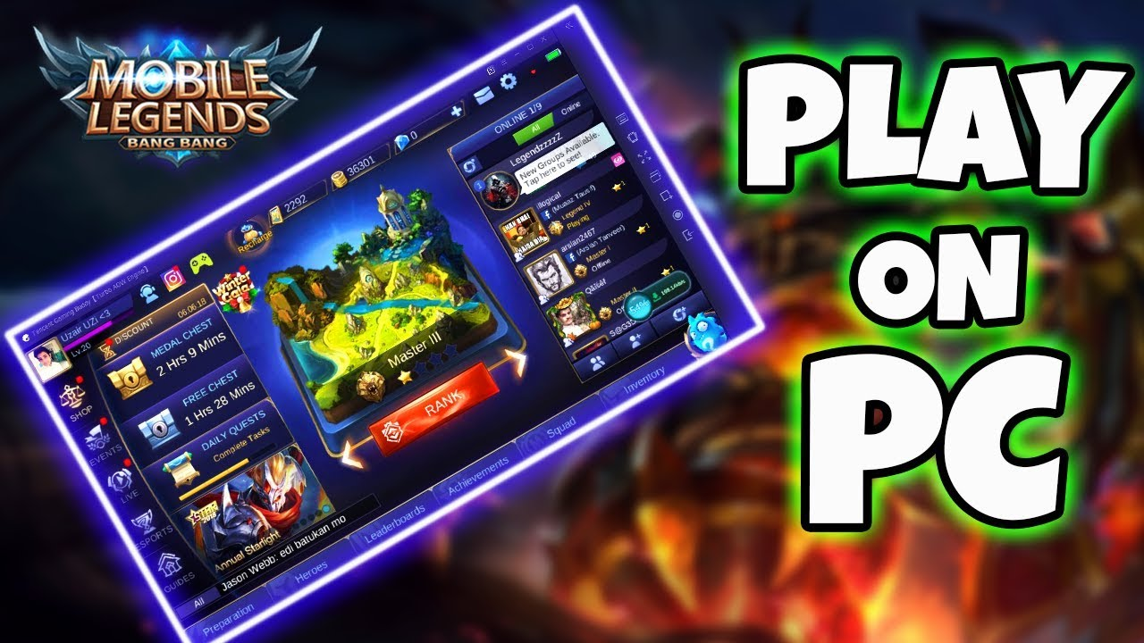 how to download and play mobile legends on pc ( tencent