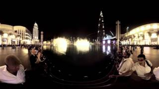 Dubai Mall Fountain - 360 degree Immersive Video