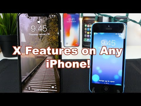 iPhone X Swipe Up to Close (Home bar) & Face ID on Any iPhone!