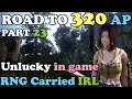 BDO - Road To 320 AP Part 23: Unlucky in Game.. but got RNG Carried in Real Life (AFFECTS BDO's FPS)