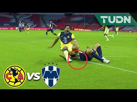 ¡ESPELUZNANTE lesión de Valdez!   América 0-0 Rayados   Guard1anes 2020 Liga BBVA MX - J6   TUDN