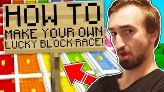 HOW TO MAKE YOUR OWN MODDED MINECRAFT LUCKY BLOCK RACE