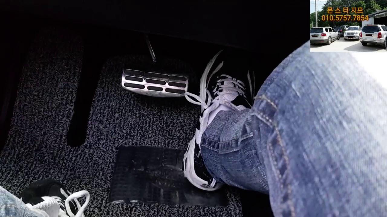 모하비더마스터 자율주행  엑셀 반자동주행 방법