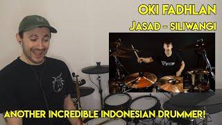 Another Incredible Indonesian Drummer! Drum Teacher reacts to Oki Fadhlan (Jasad - Siliwangi)
