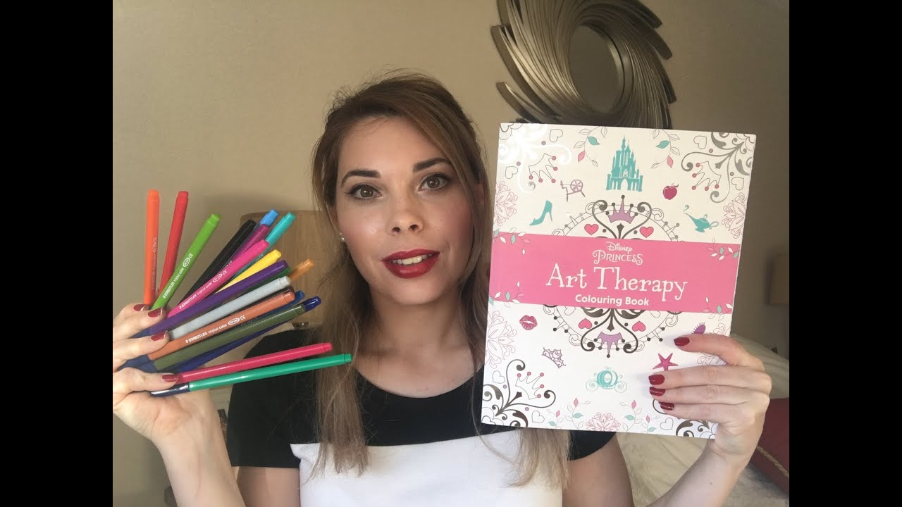 Disney Art Therapy- Libros para colorear para adultos - YouTube