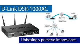 D-Link DSR-1000AC: Descubre este router profesional y avanzado, con VLANs, firewall y servidores VPN