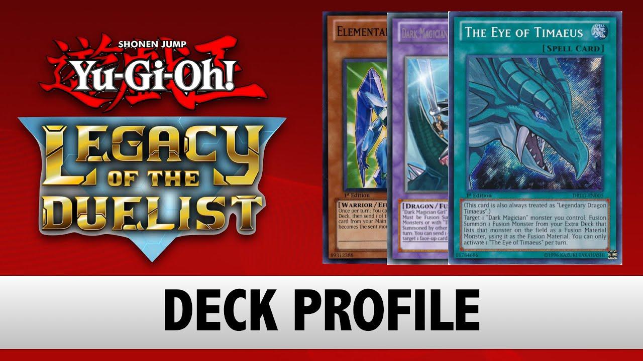 yu gi oh legacy of the duelist deck profile legendary dragon