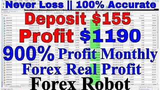 💥 Deposit $1000 💥 $4054 profit in One Month  || 💥100% Accurate Forex Robot Vpro-10 💥BOOM