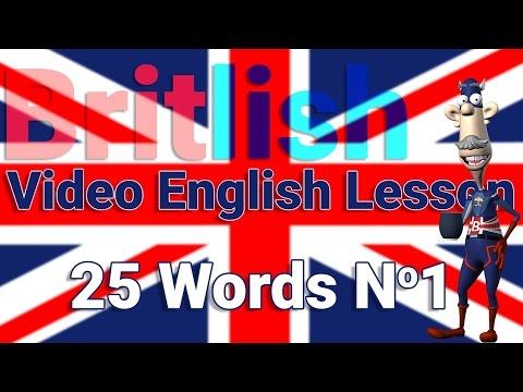 British English Pronunciation of 25 Words No1