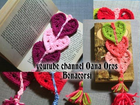 Crochet Heart Bookmark Youtube