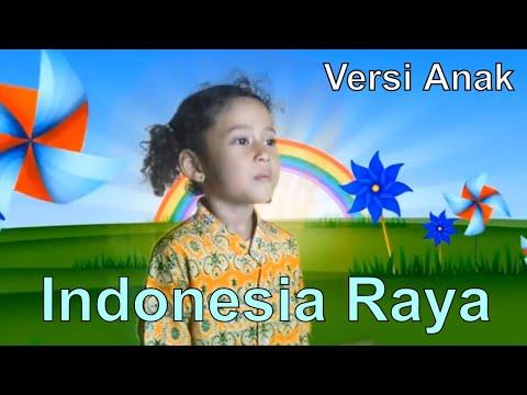 Indonesian national anthem. Child versions