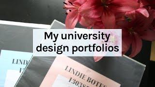 Design Portfolio Tour 💕 1st to 4th year design work