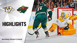NHL Highlights | Predators @ Wild 3/3/20