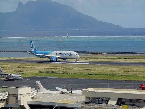French Bee (F-HREV). Premier départ de Tahiti (NTAA). 12/05/2018.