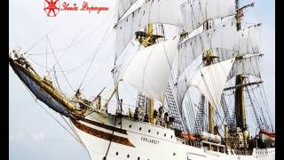 футаж Корабль в море . Сделано из фото
