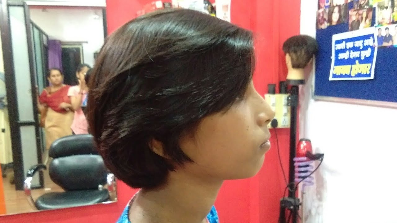 Apple haircut in long hairs to short hair (2018) - YouTube