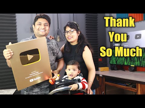 Golden Play Button Unboxing Technical Yogi …