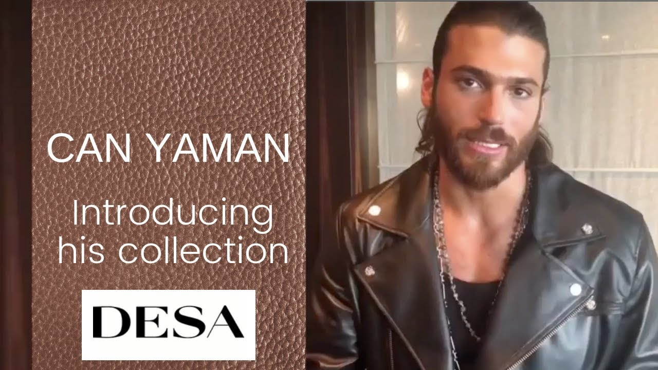 Can Yaman ❖ Introducing his Desa leather collection ❖ Fall 2018 ❖ English