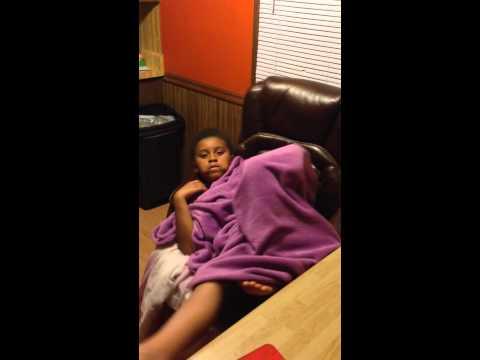 Sarai sleeping