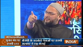 Debate among Asaduddin Owaisi, Sudhanshu Trivedi and Gaurav Bhatia at Chunav Manch 2017