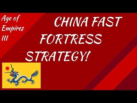 China Fast Fortress Strategy! AoE III