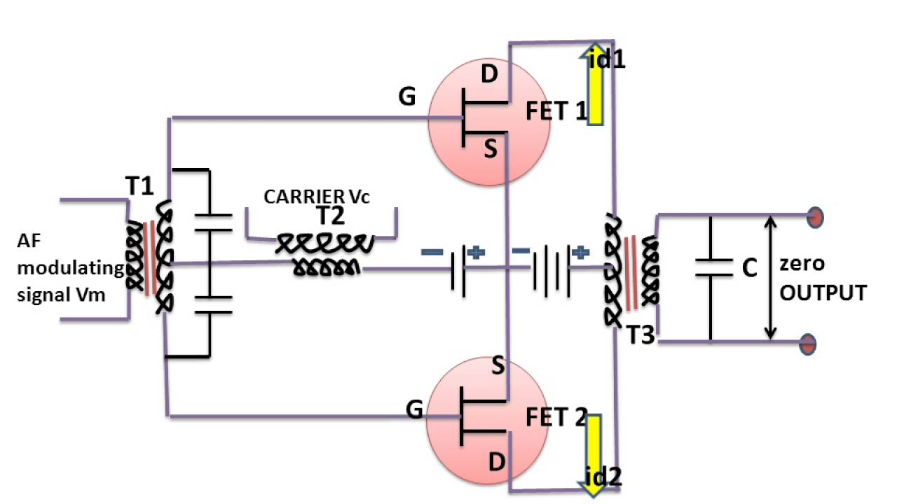 Learn And Grow Balance Modulator Using Fet Dsb Sc Youtube Circuit Schematic Diagram