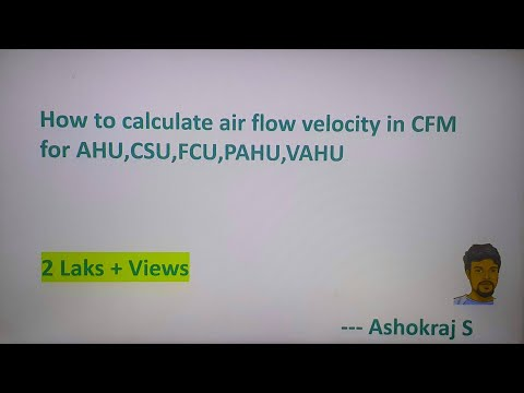 What is CFM? How to measure CFM of AHU/CSU/FCU  explanation in Hindi