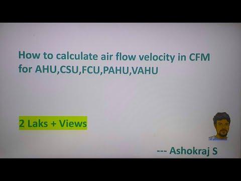 CFM Calculation In AHU/CSU/FCU - Hindi