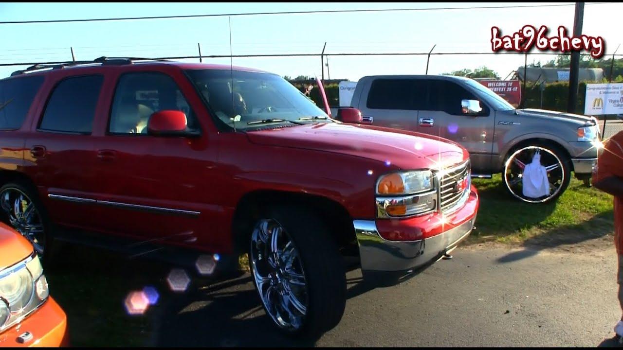 30 Inch Rims On Trucks : F truck gmc yukon suv both on s p hd youtube