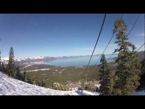 Heavenly Ski Mountain - View from Gunbarrel Chairlift - Lake Tahoe
